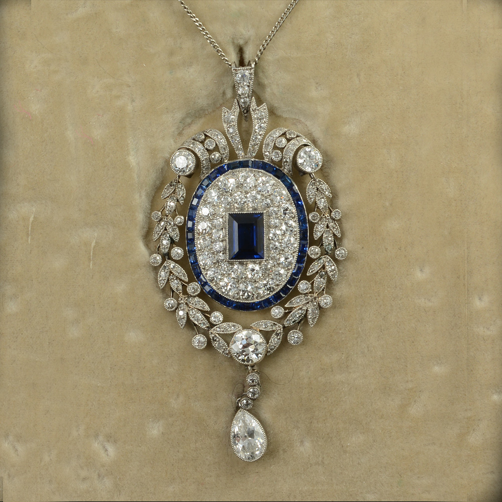John joseph pendants sapphire and diamond 191020 pendant aloadofball Choice Image